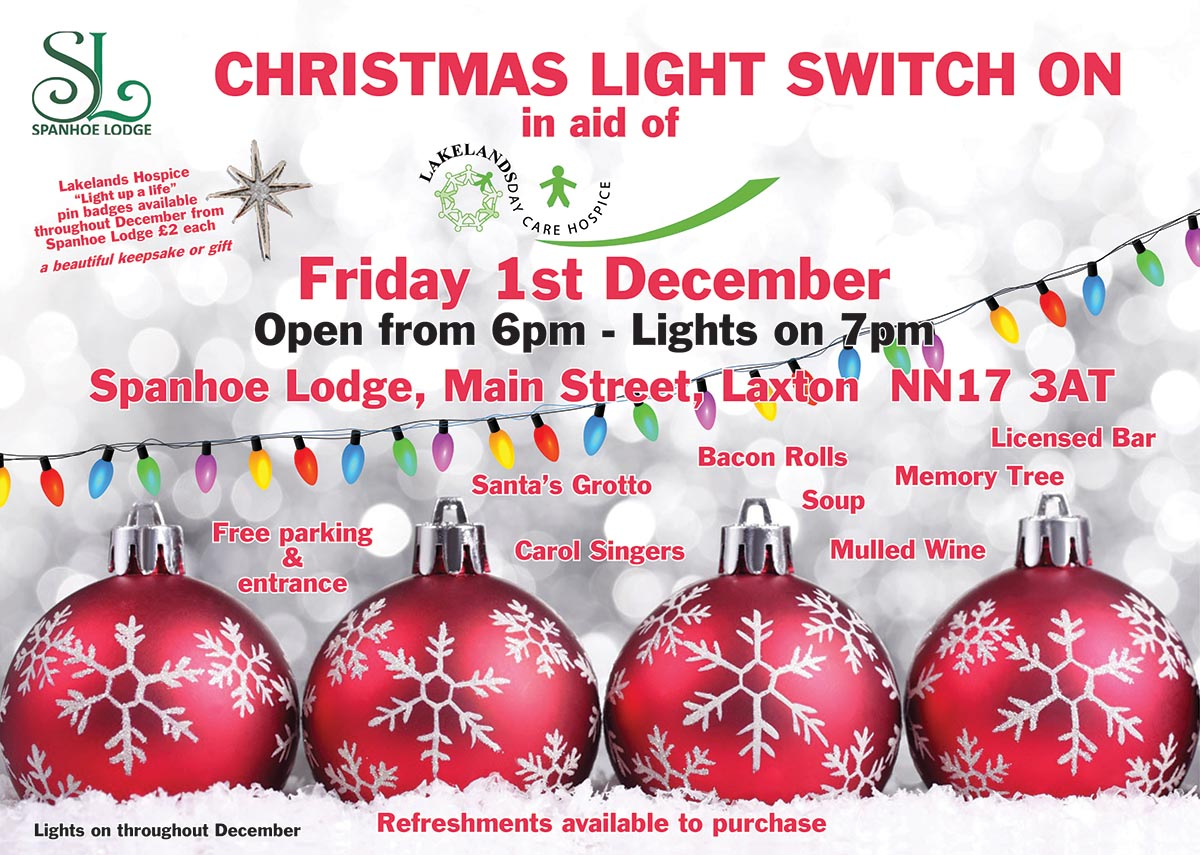 Christmas Lights at Spanhoe Lodge 2017